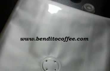 One – way valves on coffee bags